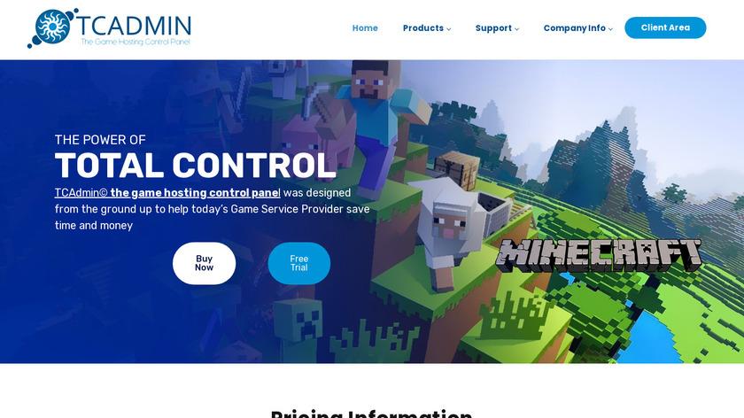 TCAdmin Landing Page