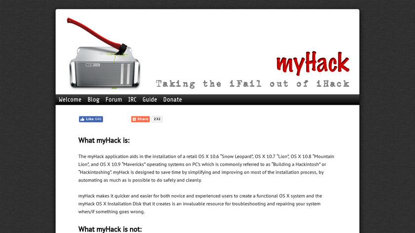 myHack Landing Page