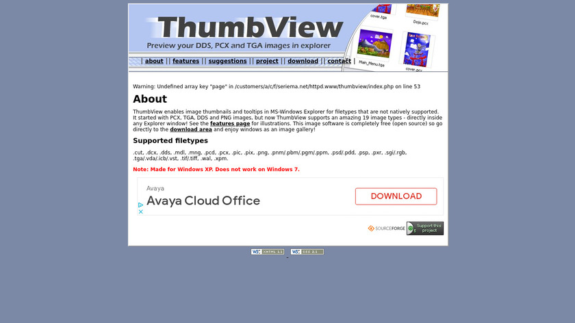 ThumbView Landing Page