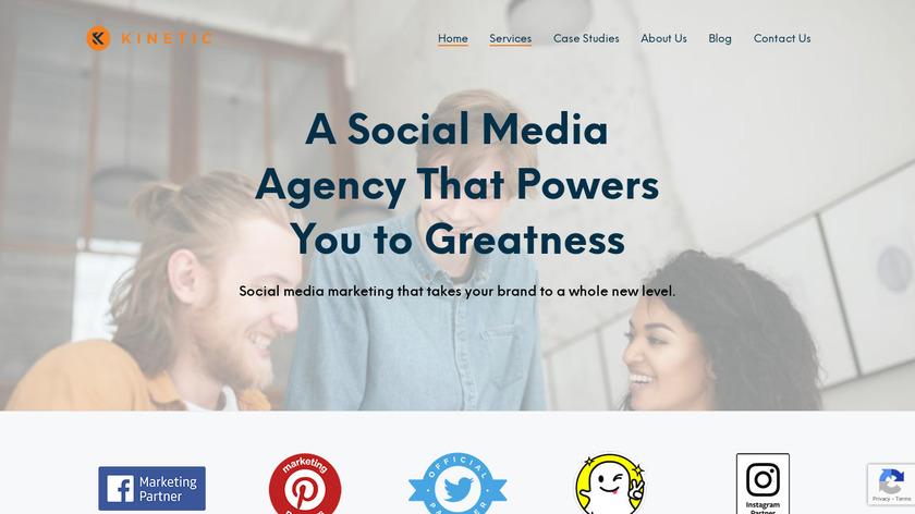 Kinetic Social Landing Page