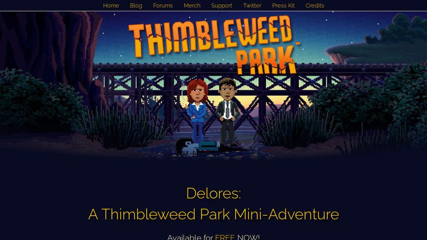 Thimbleweed Park Landing Page