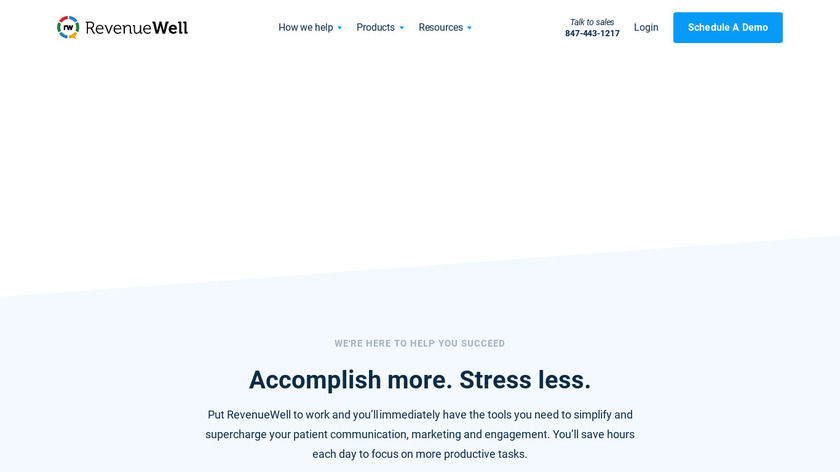 RevenueWell Landing Page