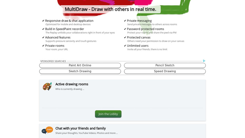MultiDraw Landing Page