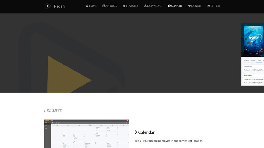 Radarr Landing Page