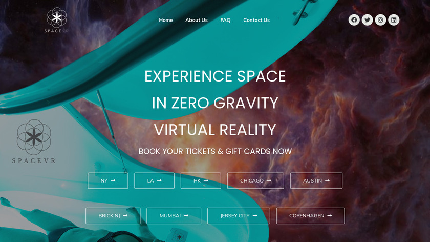 SpaceVR Landing Page