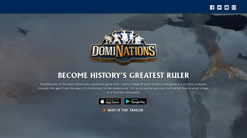 DomiNations Landing Page