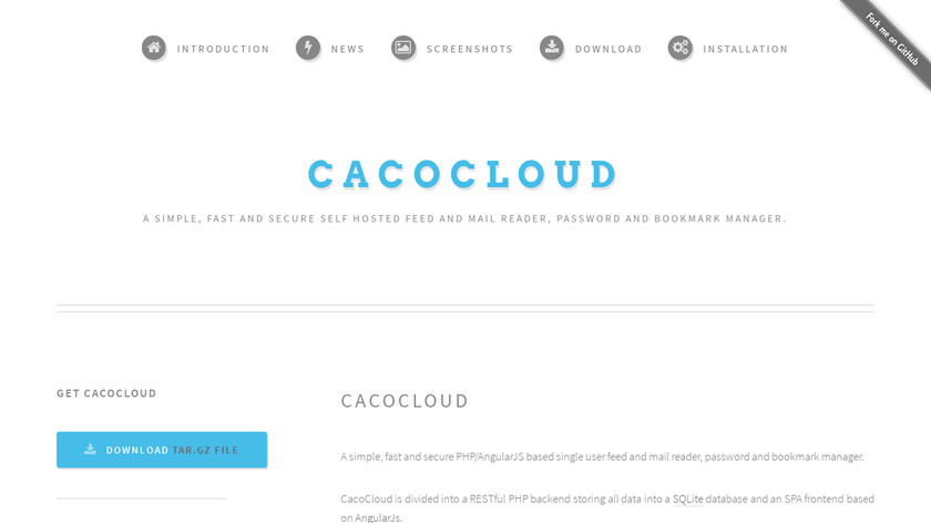 CacoCloud Landing Page