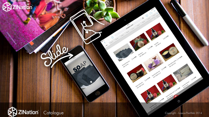 Zination Wholesale Catalog Maker Landing Page