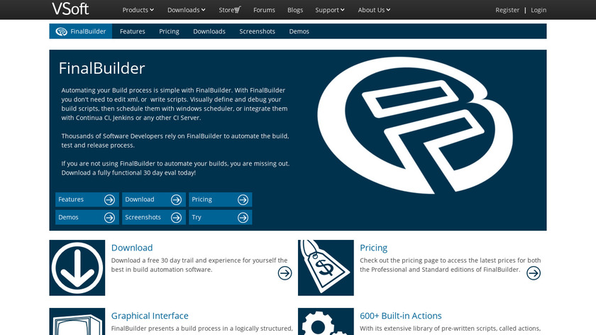 FinalBuilder Landing Page