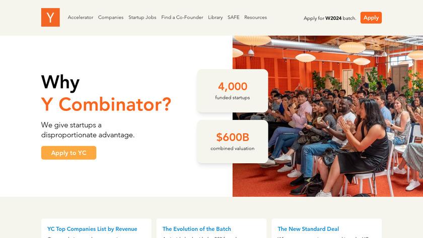 Y-Combinator Landing Page