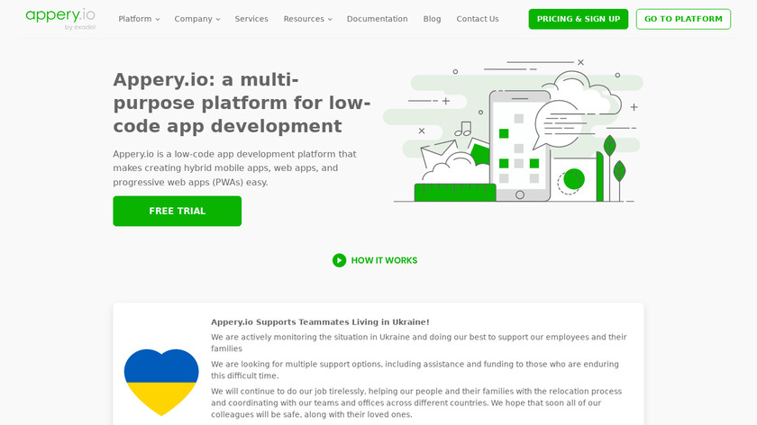 Appery.io Landing Page