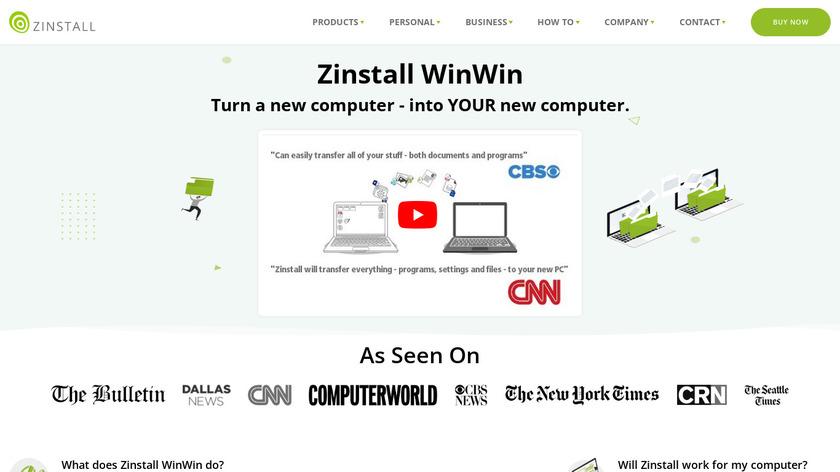 Zinstall WinWin Landing Page