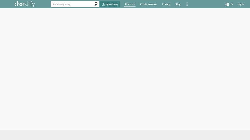 Chordify Landing Page