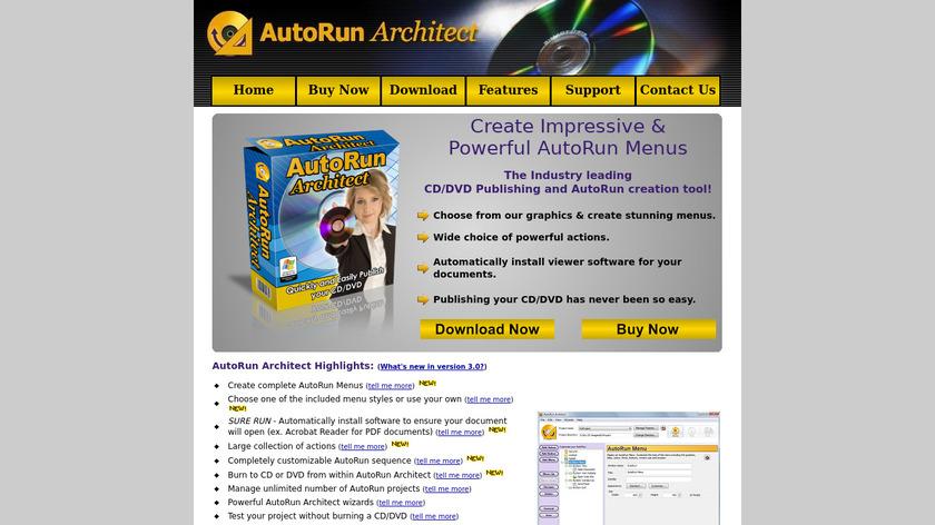 AutoRun Architect Landing Page