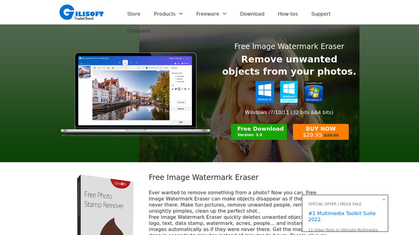 Free Photo Stamp Remover Landing Page