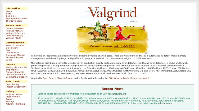 Valgrind Landing Page