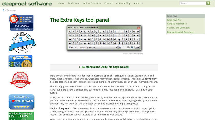 Extra Keys Landing Page