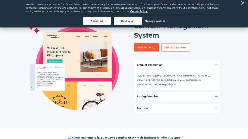 HubSpot Website Platform Landing Page