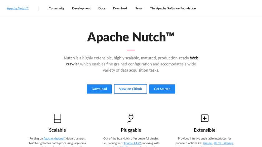 Apache Nutch Landing Page
