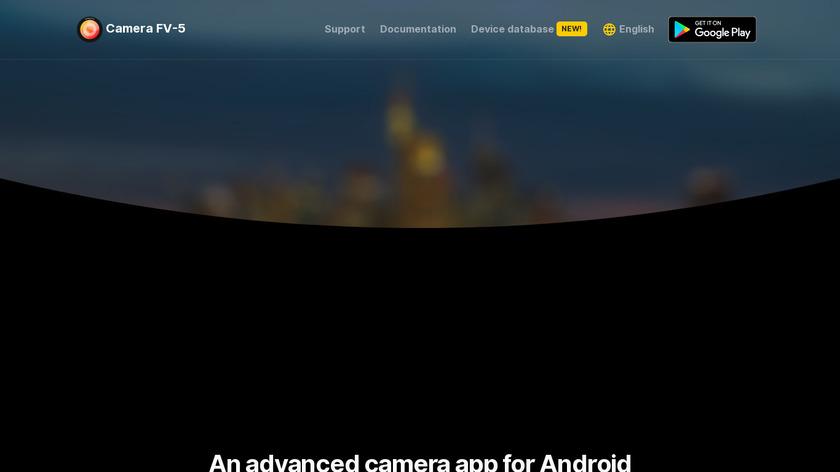 Camera FV-5 Landing Page