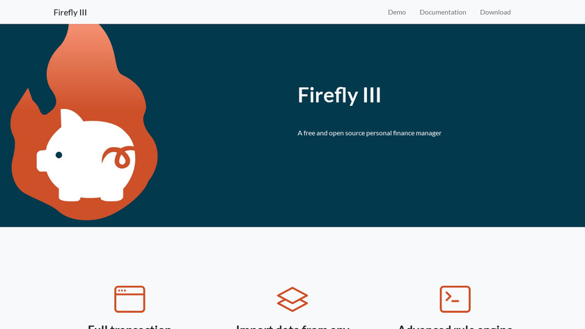 Firefly III Landing Page