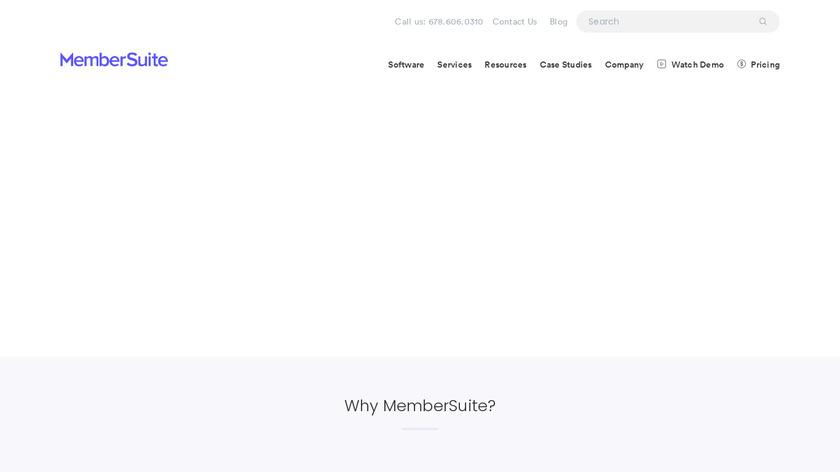 MemberSuite Landing Page
