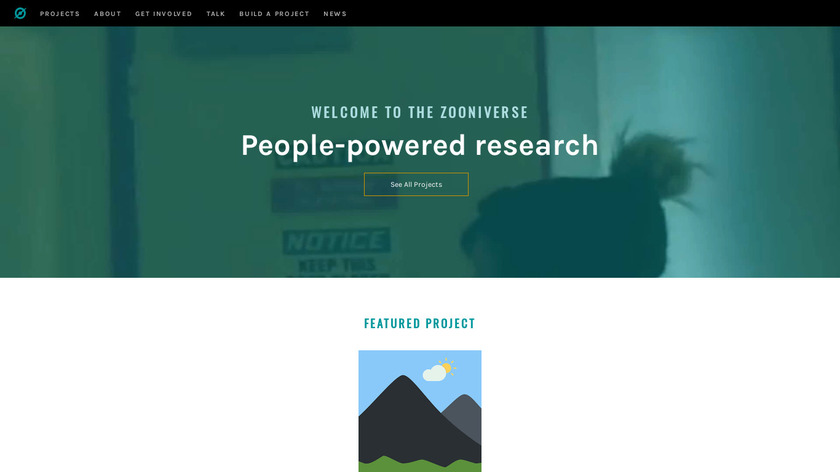 Zooniverse Landing Page