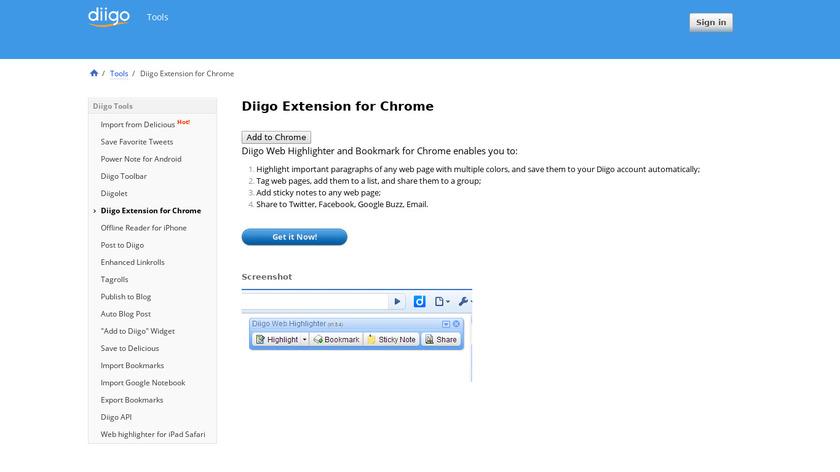 Diigo Web Collector Landing Page