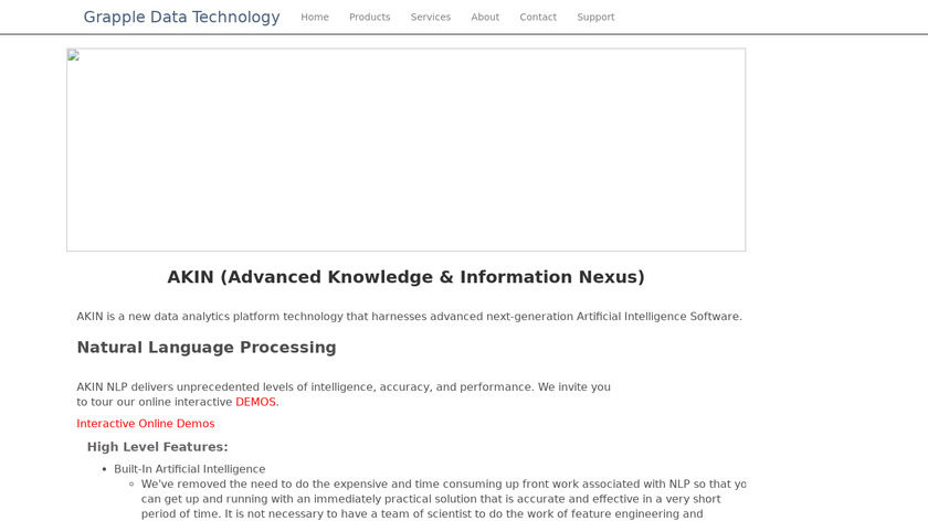AIKIN Desktop HyperSearch Landing Page