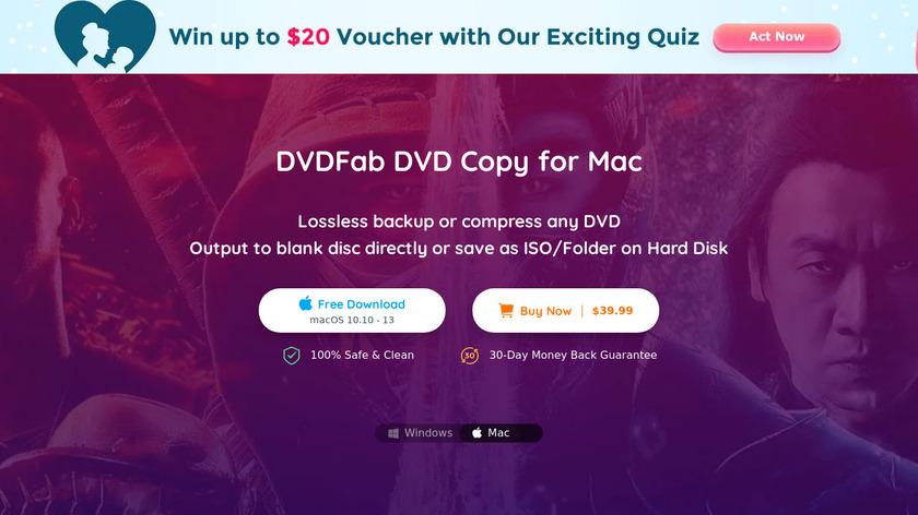 DVDFab DVD Copy Landing Page