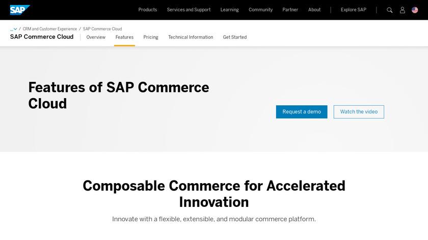 SAP Hybris Product Content Management Landing Page