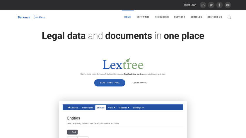 Lextree Landing Page
