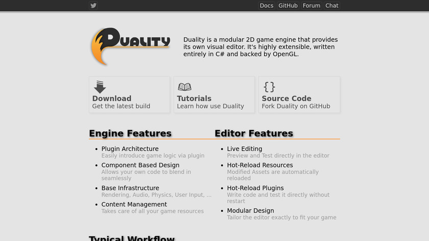 Duality Landing Page