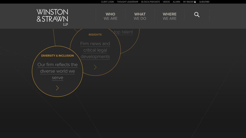 Winston and Strawn Landing Page
