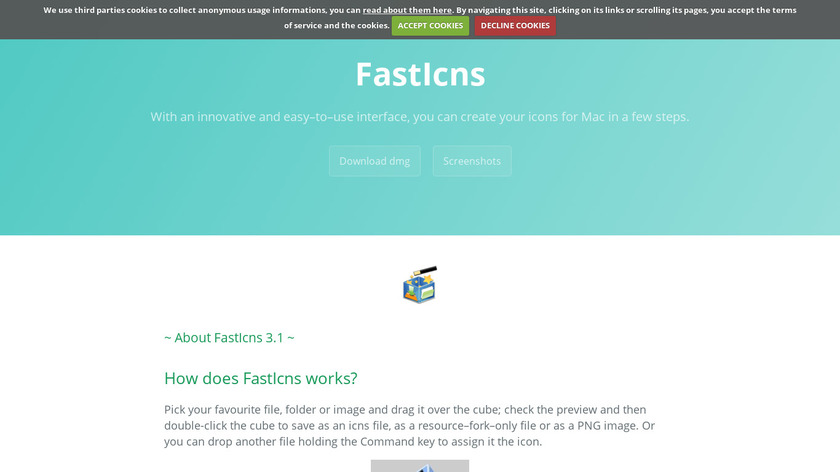 FastIcns Landing Page