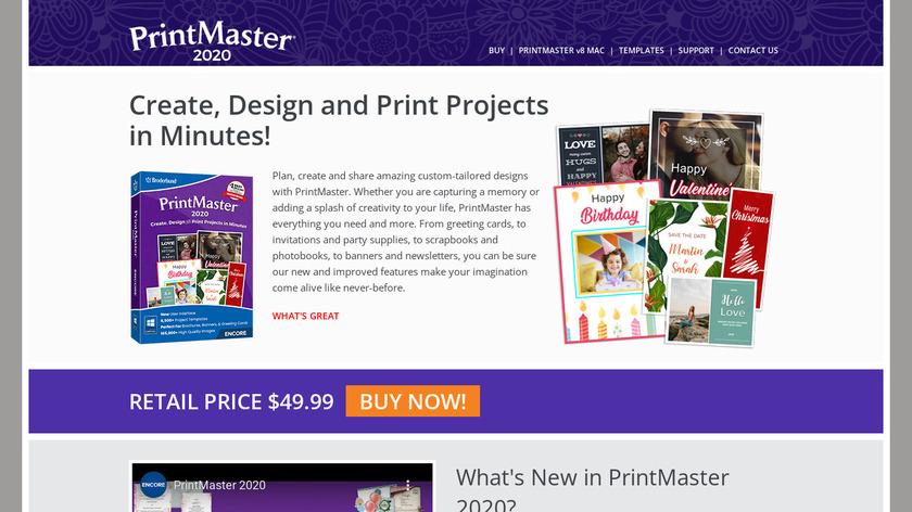 PrintMaster Landing Page