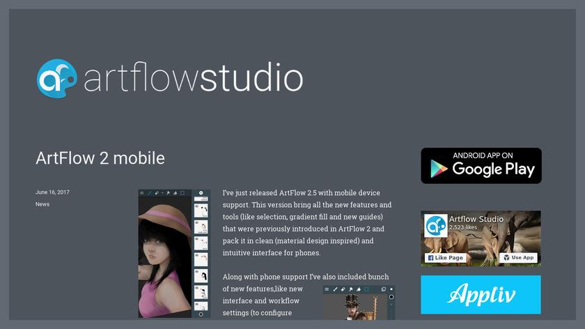 Artflow Studio Landing Page