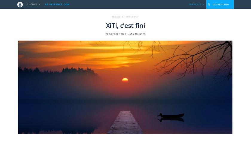 Xiti Landing Page
