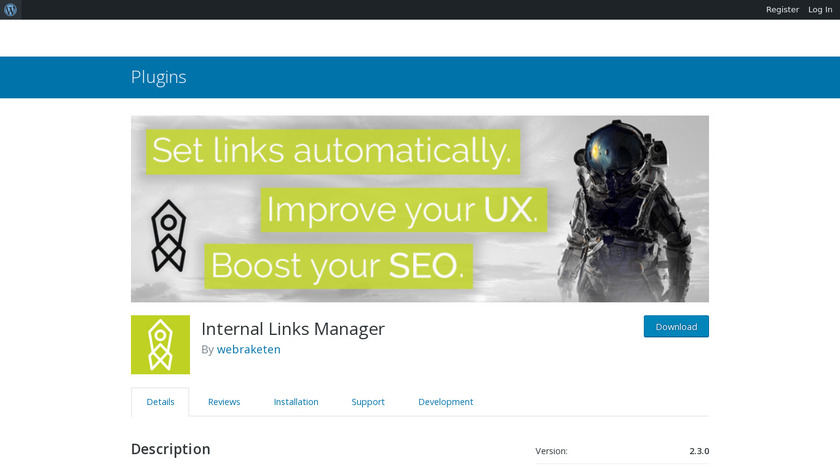 Automated Link Building Landing Page