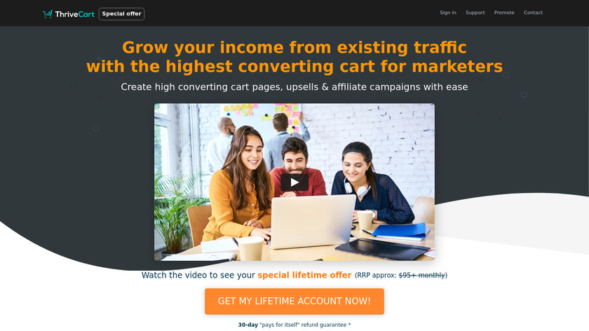 ThriveCart Landing Page