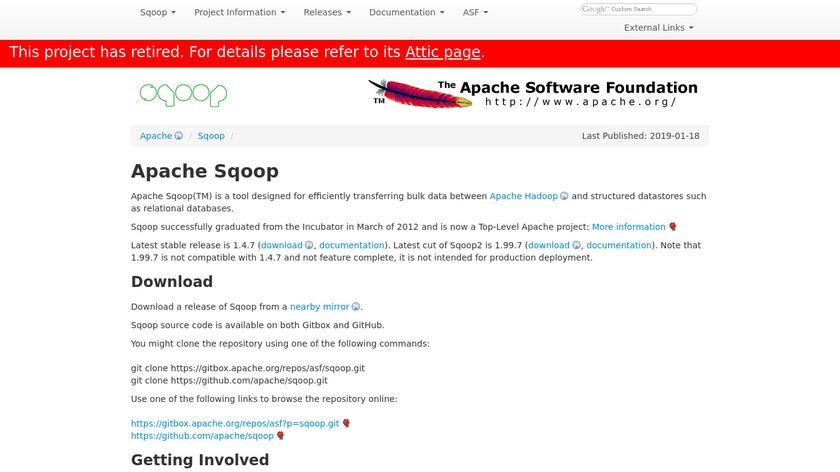 Apache Sqoop Landing Page