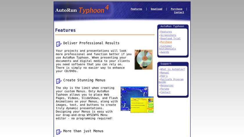 Autorun Typhoon Landing Page