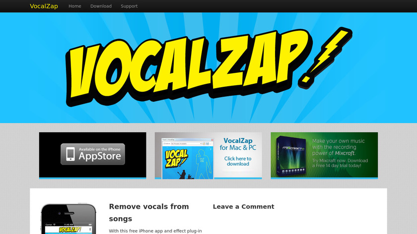 VocalZap Landing Page