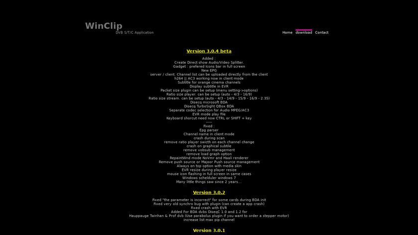 Winclip Landing Page