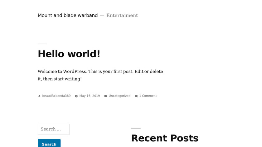 Mount and Blade Landing Page