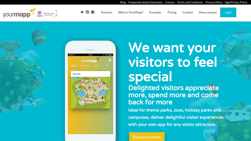 YourMapp Landing Page