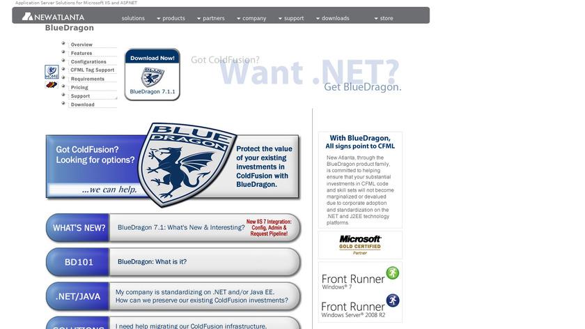 BlueDragon Landing Page