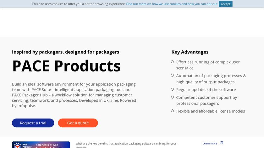 PACE Suite Landing Page