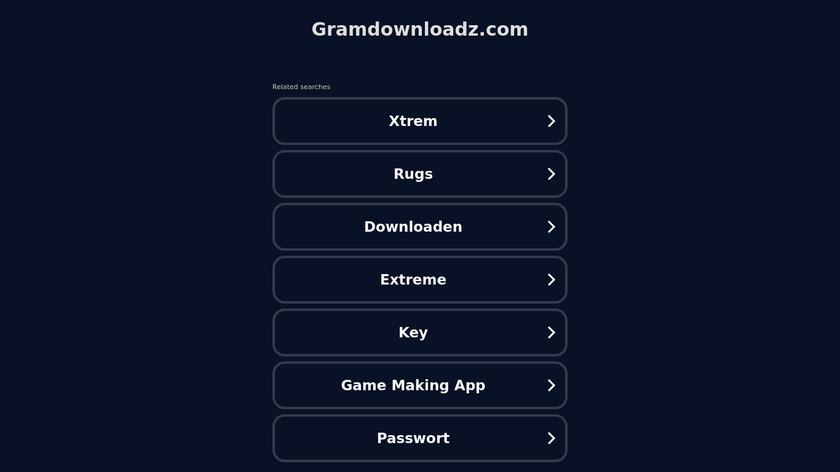 GramDownloadz.com Landing Page