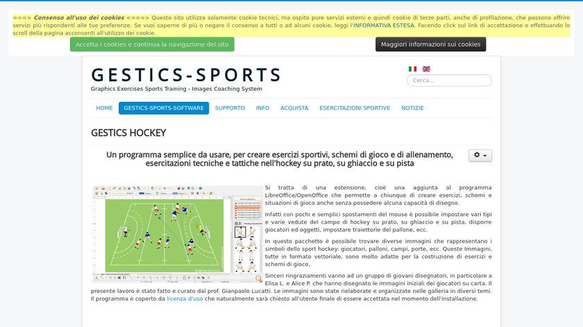 sportscoachingsystem.com GESTICS HOCKEY Landing Page
